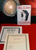 "RARE Signed BILL COSBY Autograph 1st Edition BOOK ""CHILDHOOD"", COA, UACC"