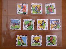 Série complète Football 2016 (YT 1278 à 1287), 10 timbres