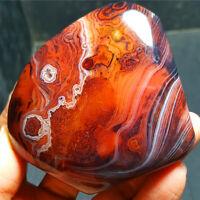 HOT236.7G Natural Polished Banded Agate Crystal Madagascar 1206+