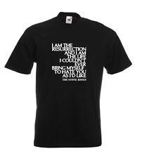 Stone Roses Lyrics T Shirt - I AM THE RESURRECTION. 18 Colours. All Sizes.