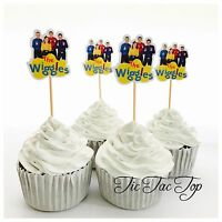 12x The Wiggles Cupcake Toppers *HANDMADE* Party Supplies Lolly Loot Bags Deco