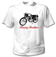 BENELLI 175 S 1960 INSPIRED - NEW WHITE COTTON TSHIRT ALL SIZES IN STOCK