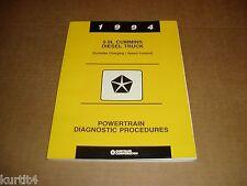 1994 Dodge 5.9 Cummins diesel D250 D350 W250 W350 pickup truck service manual