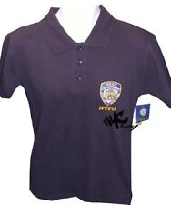 OFFICIAL NYPD EMBROIDERED LOGO NAVY POLO SHIRT MEDIUM M