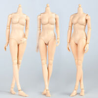 """1/6 Female Super Flexible Body Model Pale Skin Middle Breas for 12"""" Action Figur"""