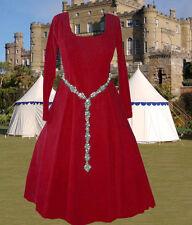Choice Color Cotehardie Kirtle Linen Bld Medieval Gown Sca Garb 6Gore Lxl