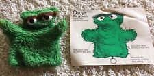 Vintage 1970's Sesame Street Oscar the Grouch Hand Puppet!