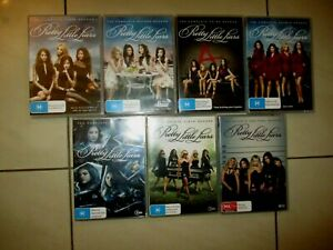 PRETTY LITTLE LIARS COMPLETE SERIES  1-7 DVD Set, , NEAR NEW CONDITION FREE POST