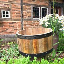 Kübel Pflanzen Holz Fässer halbes Holzfass - Holzfässer Blumenkübel Miniteich
