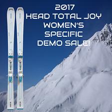2017 HEAD TOTAL JOY WOMEN'S SPECIFIC DEMO SKIS 158 cm