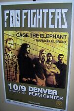 Foo Fighters in Concert Show Poster 10-9-2011 Denver Co Pepsi Center Dave Grohl