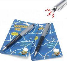 2 Shocking Electric Shock Novelty Metal Pen Prank Trick Joke Gag Toy Gift Buzzed