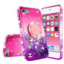 IPod Touch 5/6 Liquid Glitter Waterfall Ring Stand Shock Proof Case Cover Pink