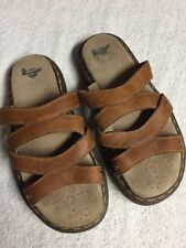 Dr. Martens Women's Brown Leather Slip On Casual Sandals Mules Size Sz 39 U.S. 8