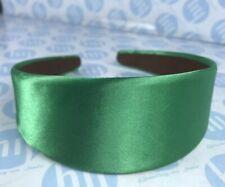 HEADBAND BRIGHT GREEN COLOUR 4.5CM WIDE SATIN FABRIC ALICE BAND HAIR HEAD