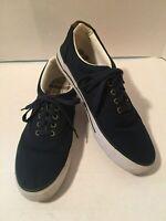 Men's American Eagle Canvas Lace Up Blue Boat Shoes Size 10.5 M