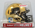 PURDUE BOILERMAKERS - Chrome Riddell Speed Mini Helmet
