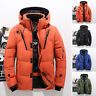 Men Winter Warm Duck Down Jacket Ski Jacket Snow Thick Hooded Puffer Coat Parka