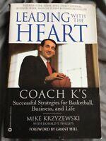 Leading with the Heart by Mike Krzyzewski (2001, Paperback) Coach K Strategies