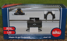 SIKU 3095 ADAPTER SET & WEIGHT BLOCK (DARK GREY) MIB, BRITAINS 1/32 SCALE
