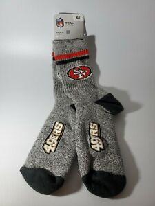 1 PAIR San Francisco 49ers  NFL Crew Cut Socks Large 10-13 Men New