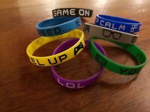 Gamer Theme Bracelets - Party Bag Fillers - Packs of 5