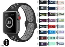iBand For Apple Watch Strap 38MM 40MM 42MM 44MM, Soft Mesh Silicone Sport iwatch