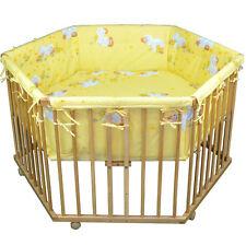 HONEY BEE Babylaufgitter 6- Eck Kinder Laufstall Laufgitter Babybett Bett NEU