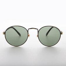 Classic Round P3 Preppy Vintage Sunglass with Glass Lens Bronze - Logan