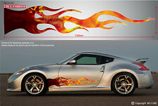 ** CAR UTE TRUCK VAN VEHICLE DECAL STICKER PREMIUM QUALITY - FLAMES 007v3 **