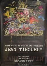 Original Plakat - Musée d'art et d'histoire Fribourg - Jean Tinguely