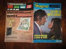 FOTOROMANZO SOGNO MENSILE ANNO 1972 N°89 CON CLAUDIO DE RENZI ROSALBA GROTTESI