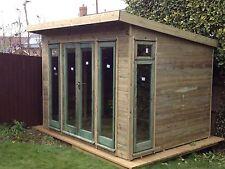 12X8 Garden office/gym/Hot tub/summerhouse/fully pressure treated. FREE FITTING