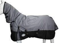 AXIOM 600D RIPSTOP 300g GREY/BLK PADDOCK HORSE COMBO RUG 6' 9