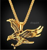 24k GOLD PLATED EAGLE PENDANT NECKLACE