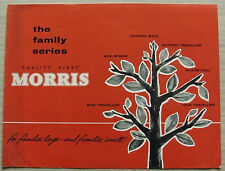 MORRIS CAR RANGE Sales Brochure 1962 #H.6185 OXFORD Mini Minor MINI TRAVELLER
