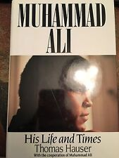 MUHAMMAD ALI - HIS LIFE AND TIMES WITH SIGNED BOOK PLATE JSA COA