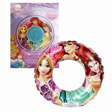"Inflatable 20"" Swim Ring Disney Princess Ariel Tangled Belle Kids Tube Float Toy"