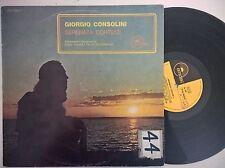 DISCO LP GIORGIO CONSOLINI - SERENATA CORTESE - EMIDISC 1970 - EX/VG--