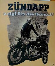 Wehrmacht Schild Blechschild Motorrad ZÜNDAPP Nürnberg KRAD WELT Krieg Nr 1563