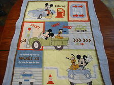 """MICKEY MOUSE BABY QUILT TRANSPIRATION 36"""" BY 36"""" HANDMADE"""