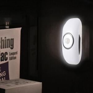 LED Night Light Plug In Hallway White Lamp Bedroom Baby PIR Motion Sensor Home