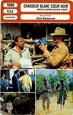 Movie Card. Fiche Cinéma. Chasseur blanc coeur noir (USA) Clint Eastwood 1990