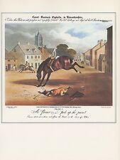 "1974 Vintage HUNTING ""COUNT SANDOR'S EXPLOITS IN LEICESTERSHIRE"" Art Lithograph"
