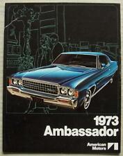 AMERICAN MOTORS AMC AMBASSADOR USA Car Sales Brochure 1973 #AMX 7305