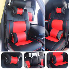 Car Seat Cover PU Leather Front+Rear Cushion For Dodge Ram 1500 2500 2009-2017