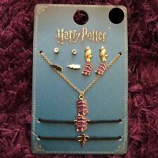 Official Harry Potter Knight Bus 7 Jewellery Set Earrings Necklace Primark