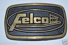 Vintage FELCO Excavator Attachments Heavy Equipment Brass Belt Buckle Rare