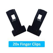 20 New Finger Clips for Velvet Coat Hangers Thin Space Saving Hanger