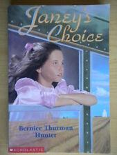Janey's choicehunter bernice thurmanscholastic1998canadainglese bambini 204